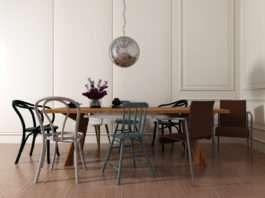 stół w mieszkaniu