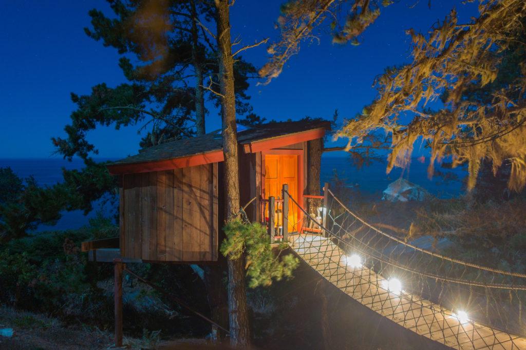 glamping domek na drzewie