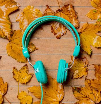 Zielone słuchawki