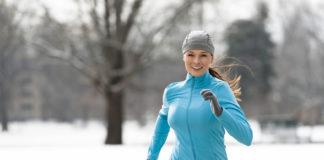 bieganie po śniegu