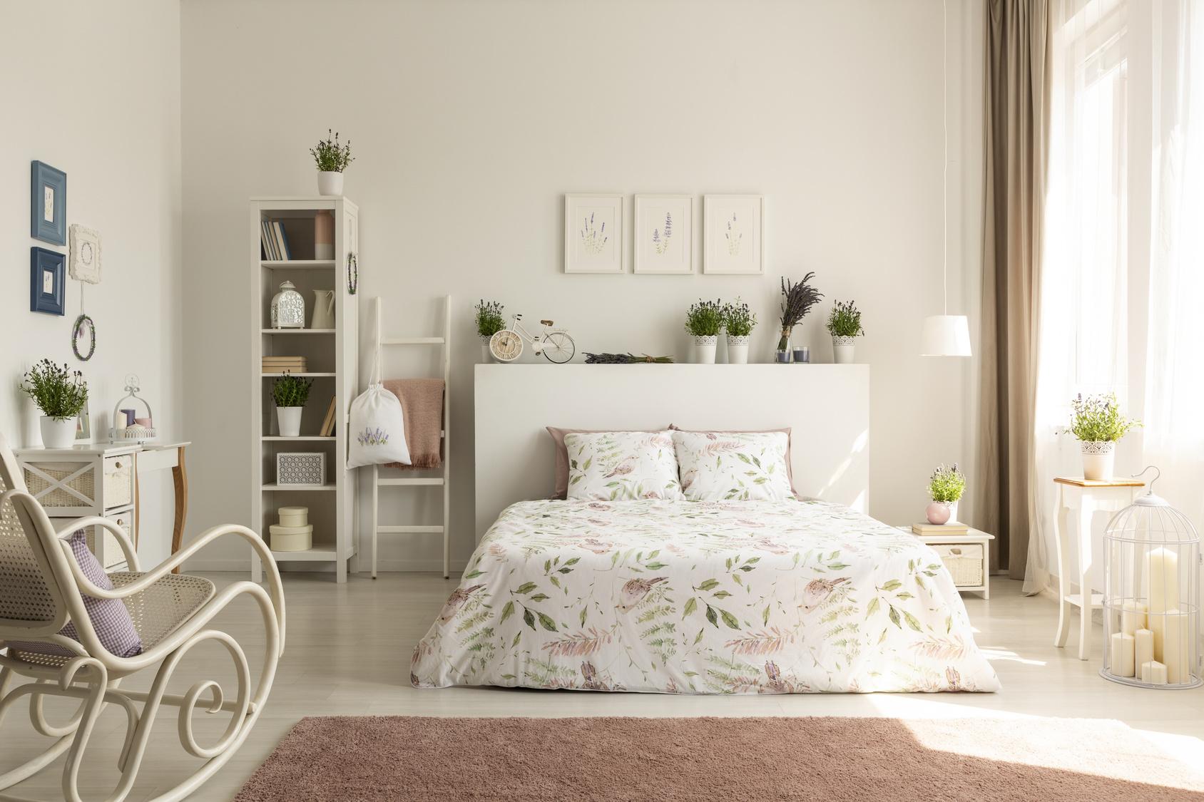 Sypialnia inspirowana Prowansją