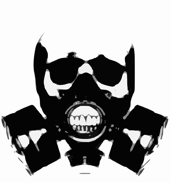 Tatuaż maska gazowa 3D