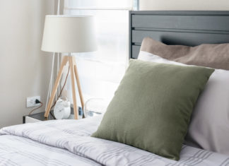 stylowa mała sypialnia