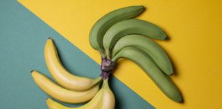 zielone i żółte banany