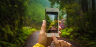 robienie zdjęć przyrody smartfonem