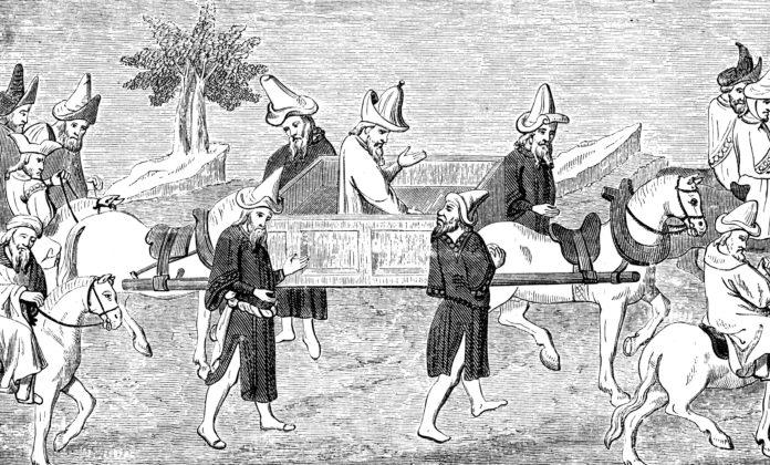 Marco Polo w Chinach - rycina z około 1280 roku