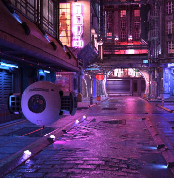 miasto cyberpunk