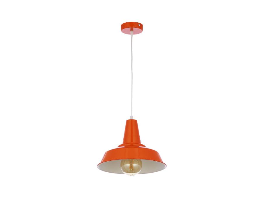 nowoczesna lampa w pomarańczowym kolorze