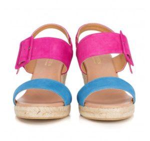 kolorowe sandały na platformie
