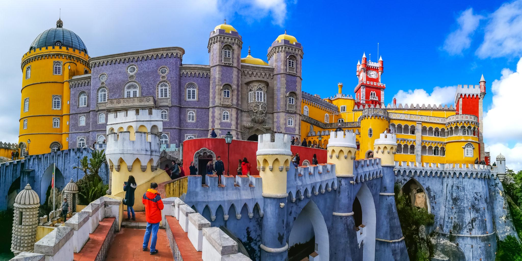 Sintra zamek Lizbonie, Portugalia