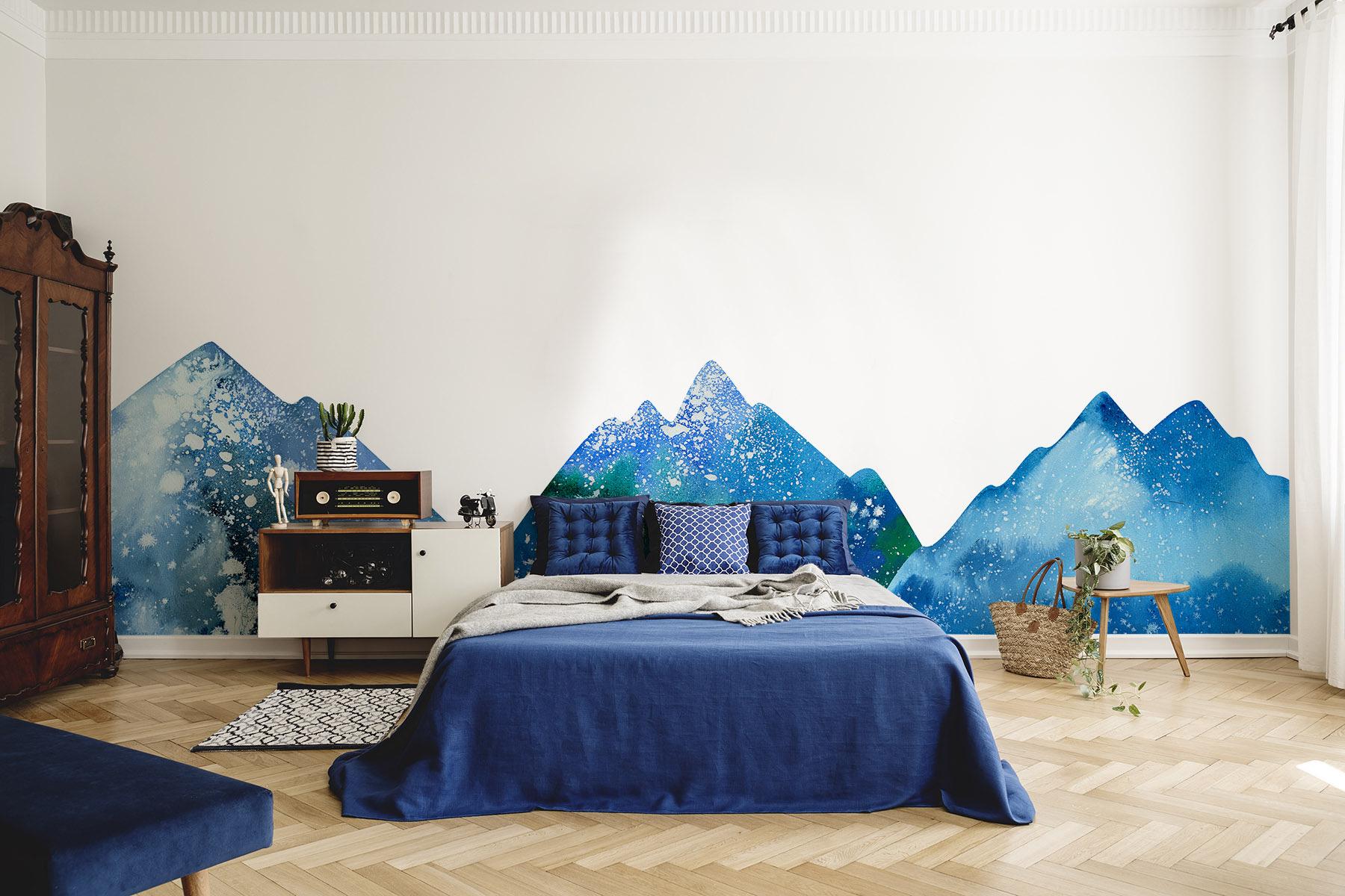 Naklejka niebieskie góry