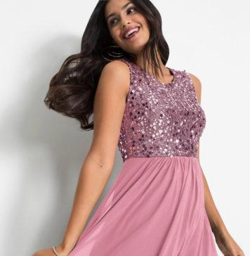 ozdobna sukienka z cekinami na wesele