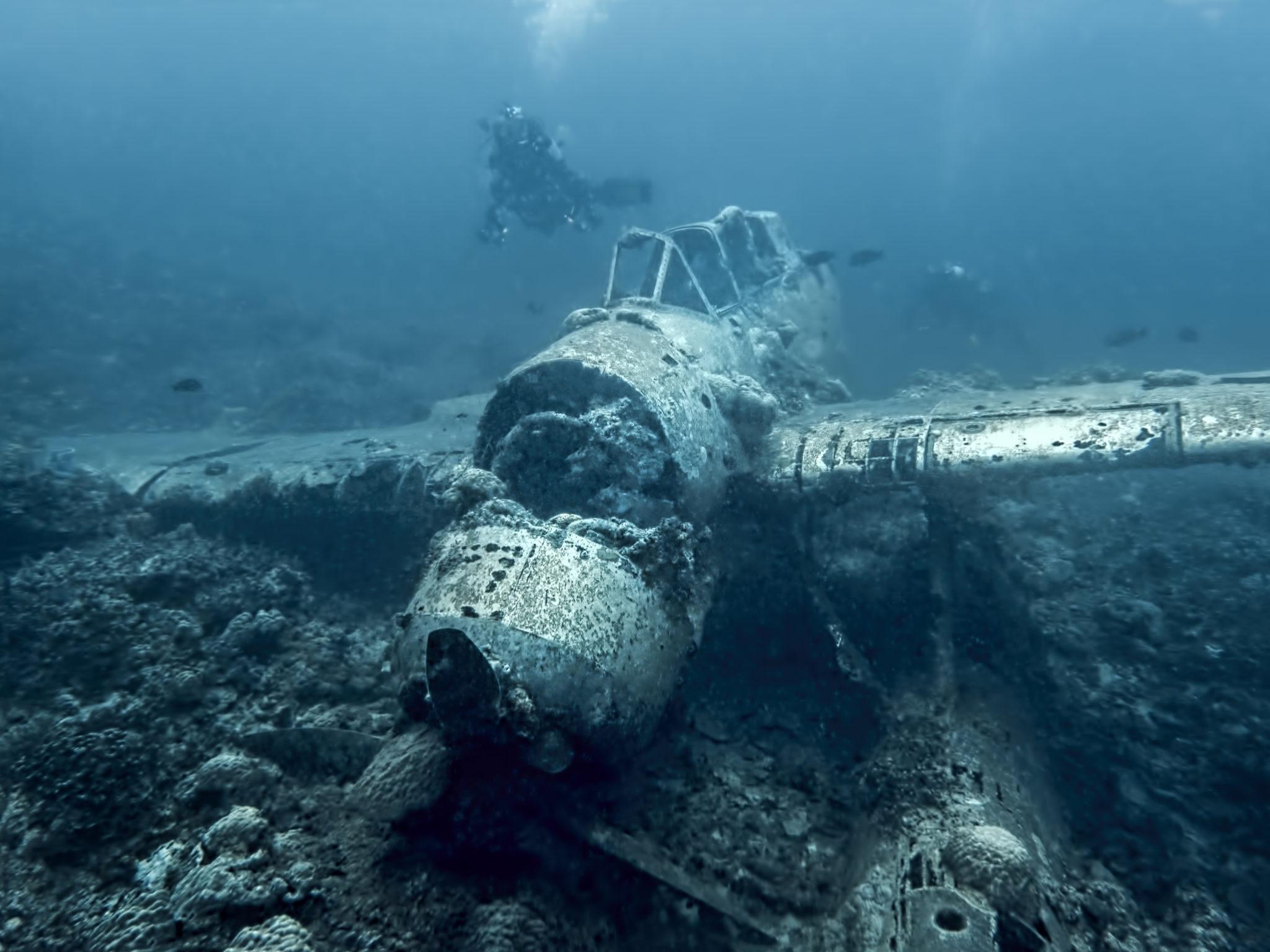 wrak samolotu na Palau