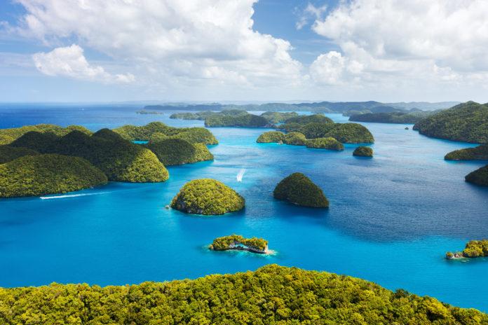 Palau wyspy z lotu ptaka