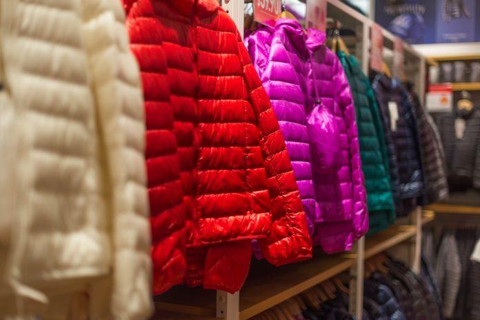 kolorowe kurtki zimowe