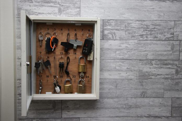 metalowa skrzynka na klucze