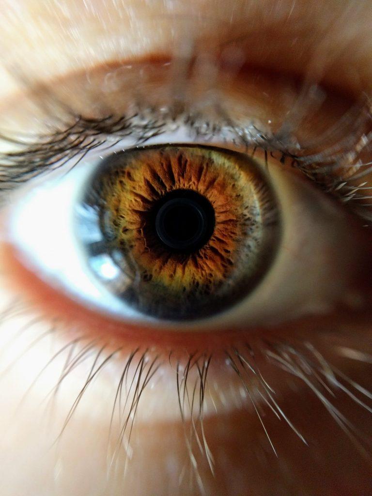 oko zbliżenie soczewka