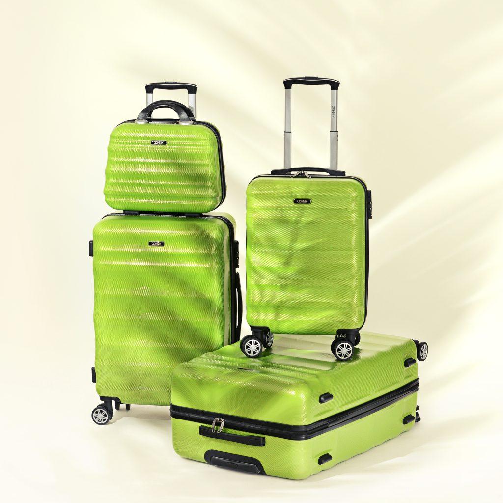 zielony zestaw walizek