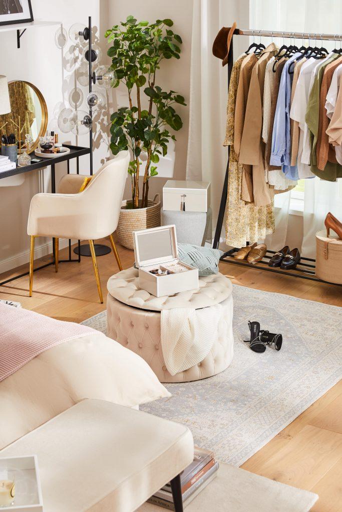 aranżacja sypialni garderoba
