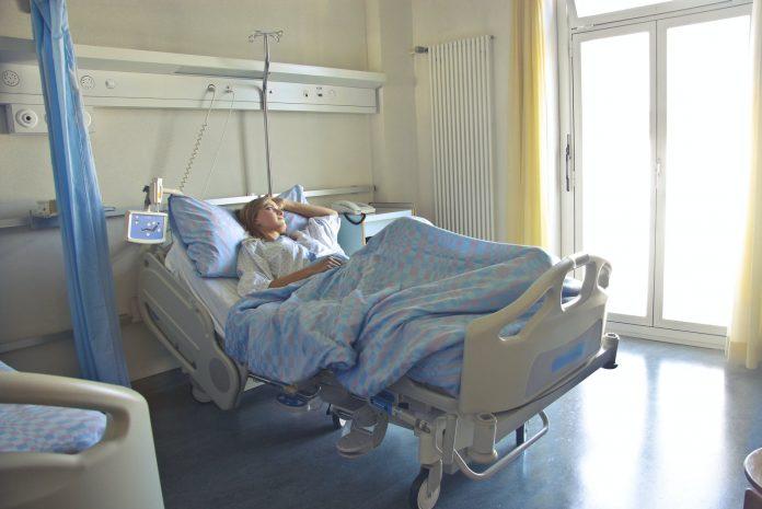 pacjentka leżąca
